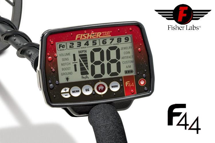 Fisher F44 Premiumpaket (Metalldetektor & Quest Xpointer & Schatzsucherhandbuch)