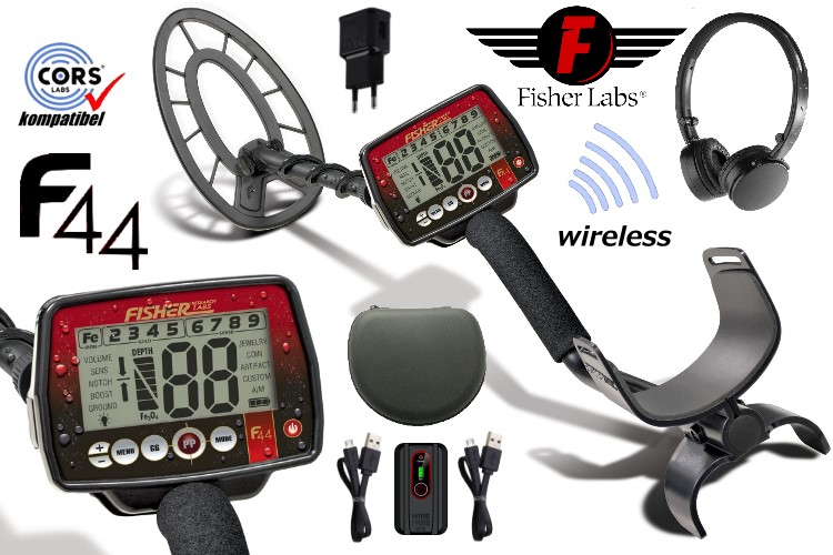 Fisher F44 Metalldetektor wireless